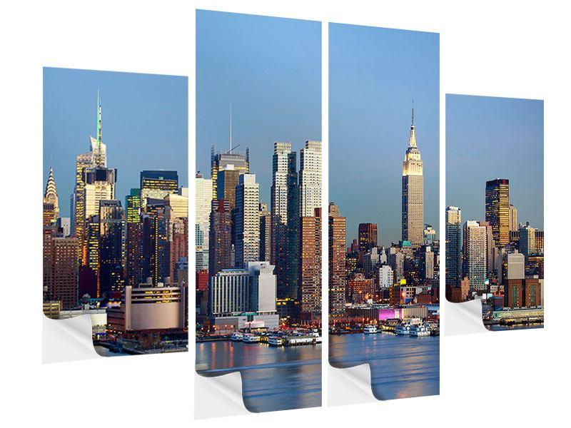 Klebeposter 4-teilig Skyline Midtown Manhattan