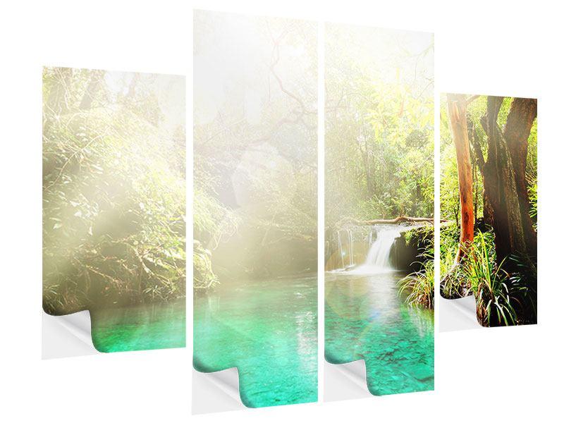 Klebeposter 4-teilig Die grüne Lagune