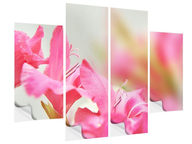 Klebeposter 4-teilig Gladiolen