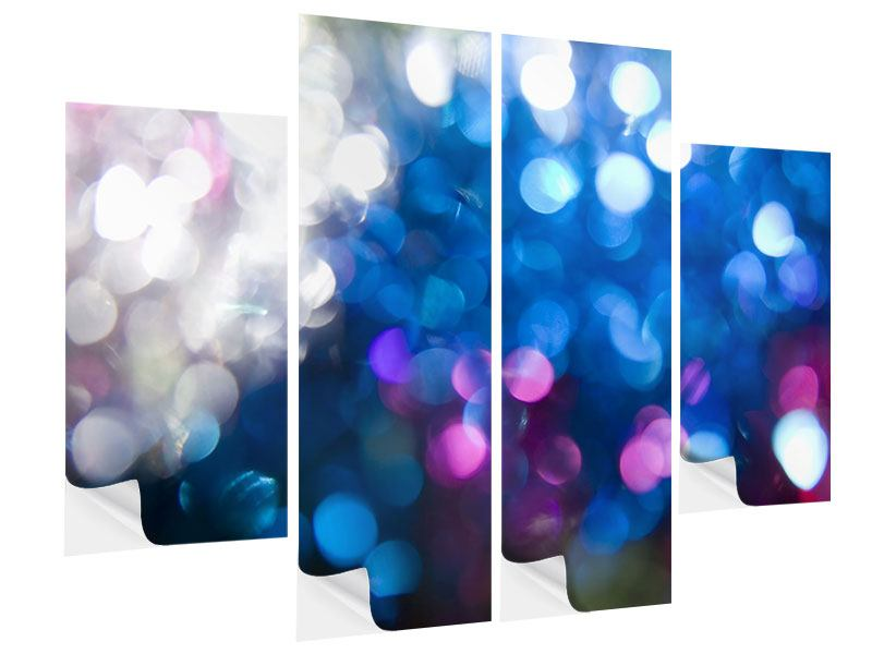 Klebeposter 4-teilig Abstraktes Licht