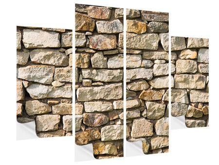 Klebeposter 4-teilig Natursteine