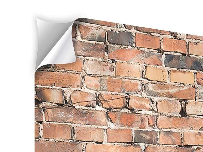 Klebeposter 4-teilig Alte Backsteinmauer