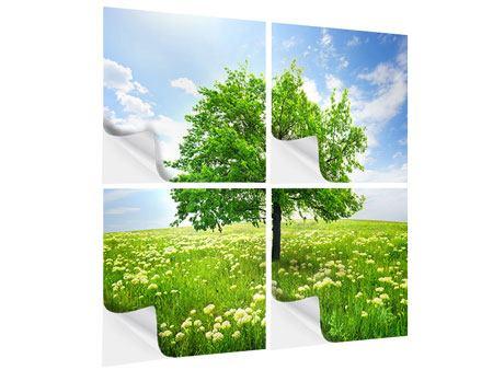 Klebeposter 4-teilig Der Baum
