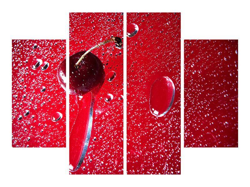 Klebeposter 4-teilig Die Kirsche
