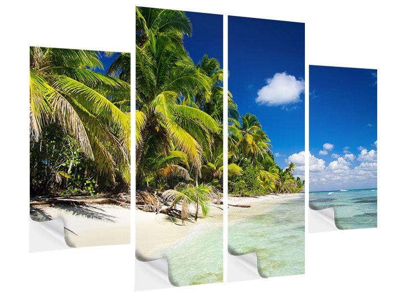 Klebeposter 4-teilig Die einsame Insel