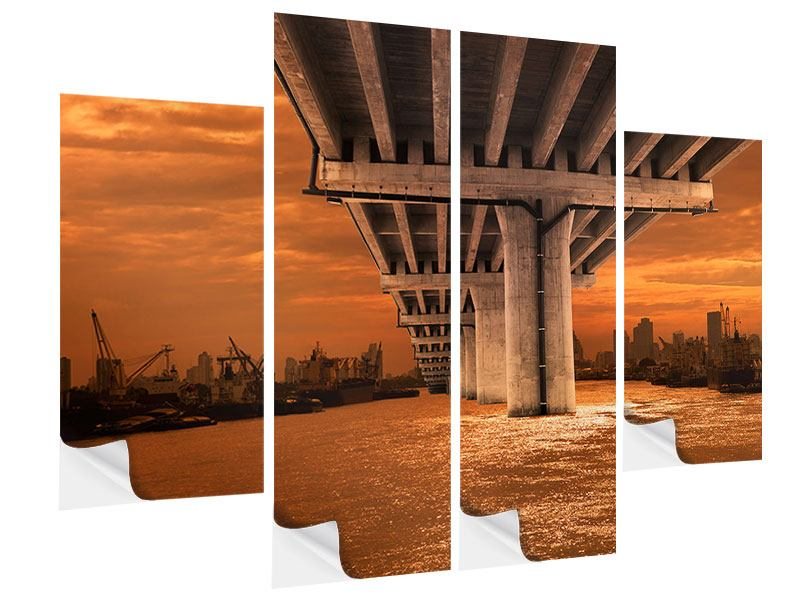 Klebeposter 4-teilig Die Brücke