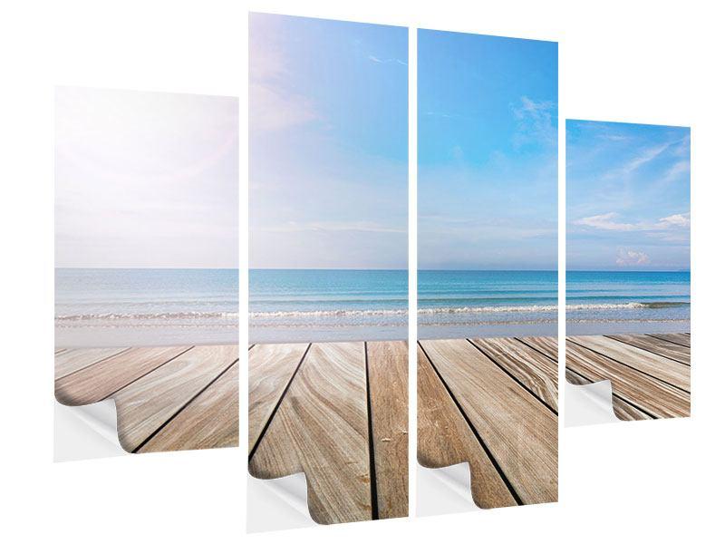Klebeposter 4-teilig Das schöne Strandhaus