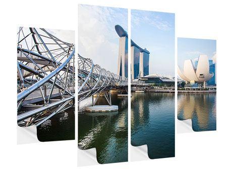 Klebeposter 4-teilig Singapur