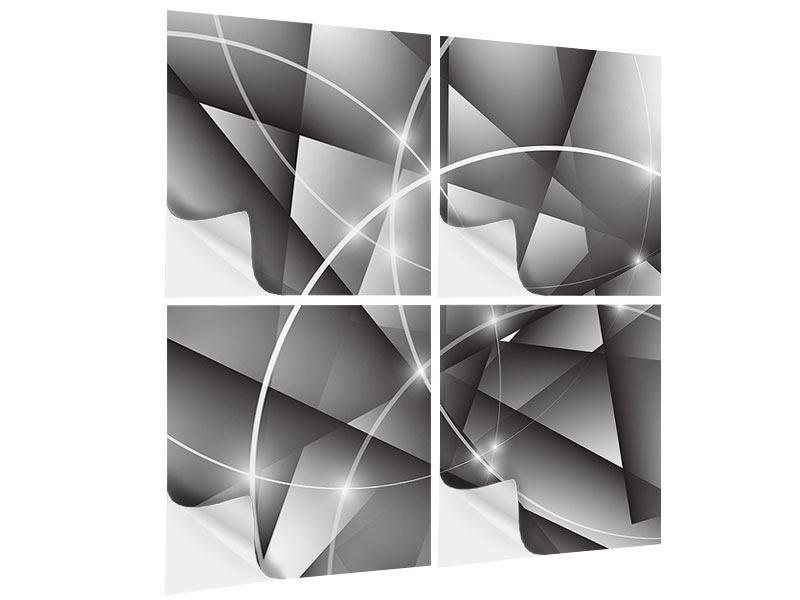 Klebeposter 4-teilig Geometrie