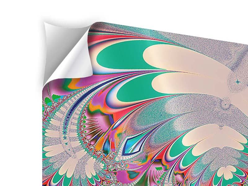 Klebeposter 4-teilig Fraktal Design