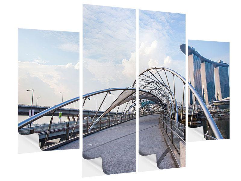 Klebeposter 4-teilig Helix-Brücke