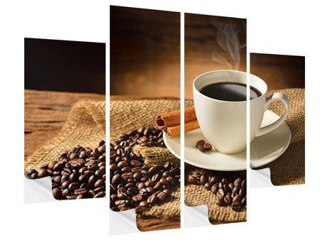Klebeposter 4-teilig Kaffeepause