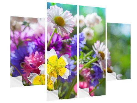 Klebeposter 4-teilig XXL Gartenblumen