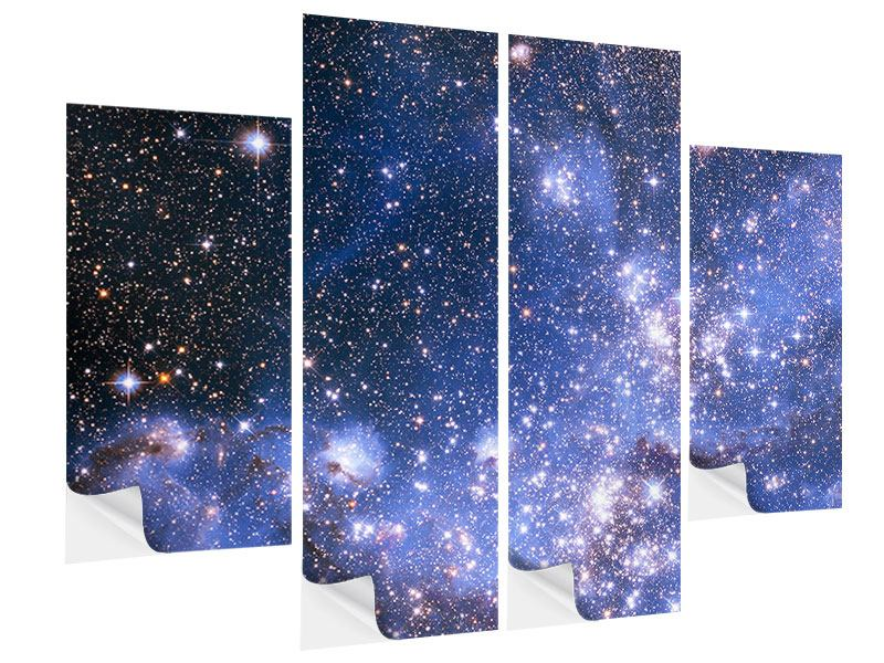 Klebeposter 4-teilig Sternenhimmel