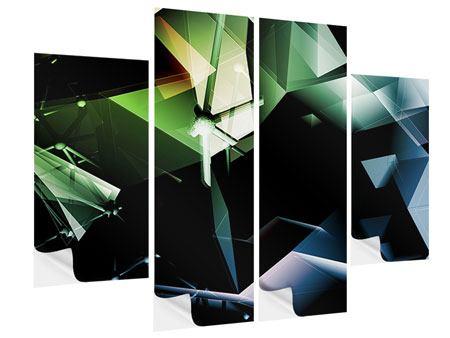 Klebeposter 4-teilig 3D-Polygon