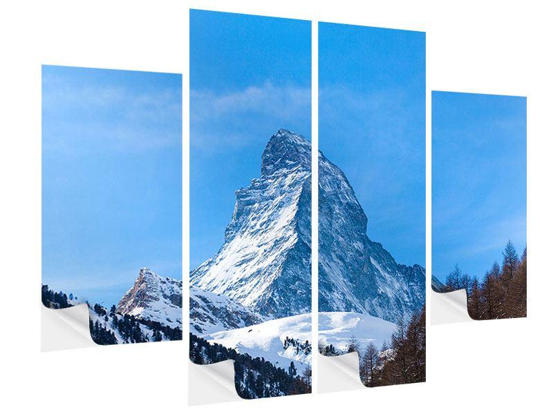 Klebeposter 4-teilig Das majestätische Matterhorn