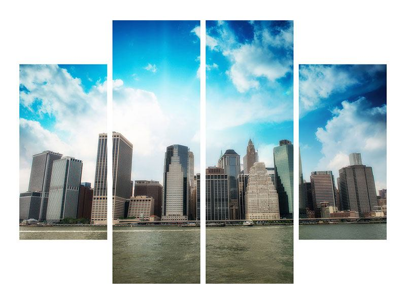 Klebeposter 4-teilig Skyline Lower Manhattan