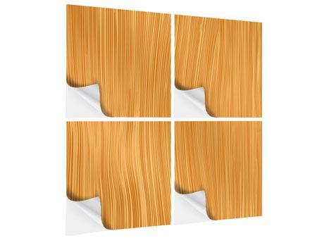 Klebeposter 4-teilig Wooden
