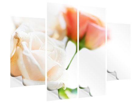 Klebeposter 4-teilig Rosenperspektive