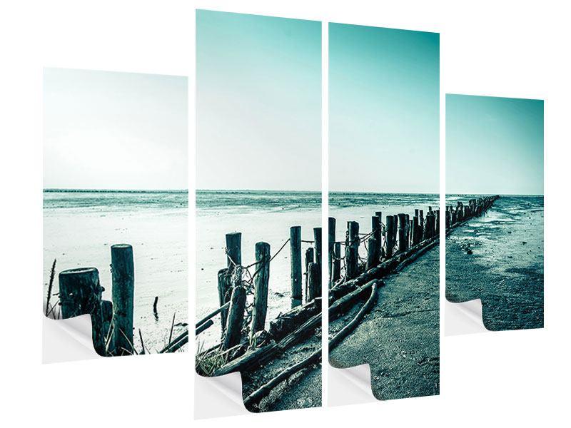 Klebeposter 4-teilig Das Wattenmeer