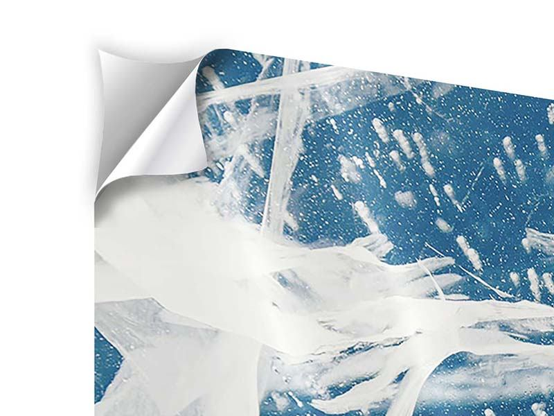 Klebeposter 4-teilig Eiskristalle