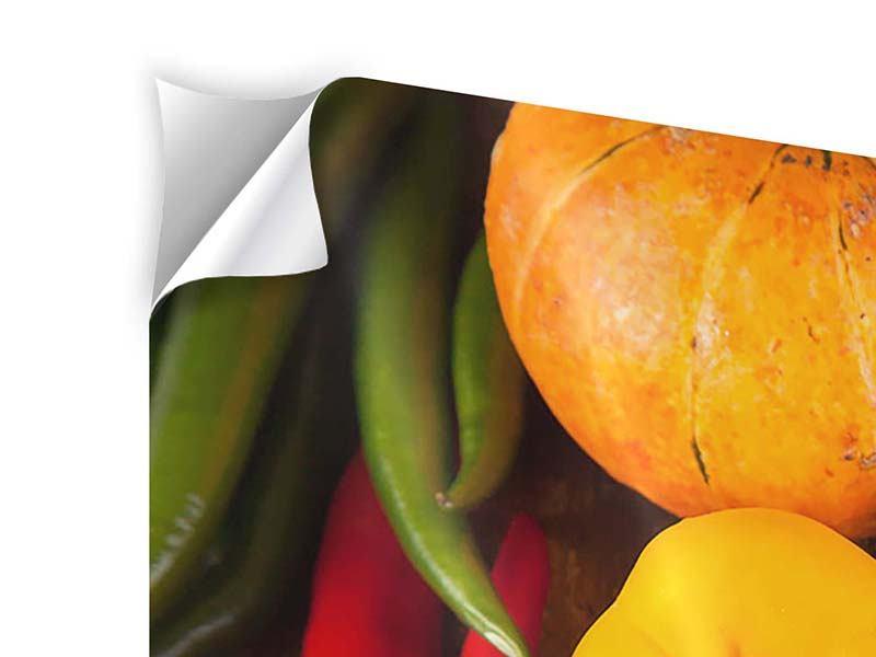 Klebeposter 4-teilig Gemüsefrische