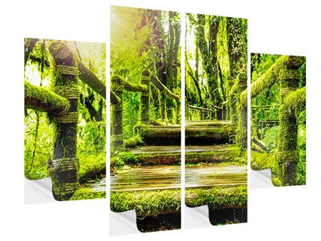 4 Piece Self-Adhesive Poster Moss