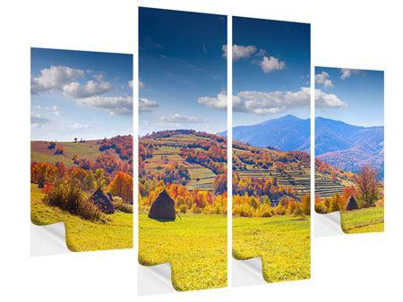 Klebeposter 4-teilig Herbstliche Berglandschaft