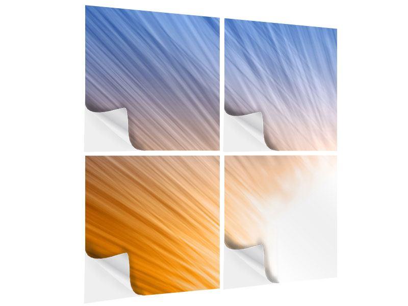 Klebeposter 4-teilig Abstraktes Lichterspiel