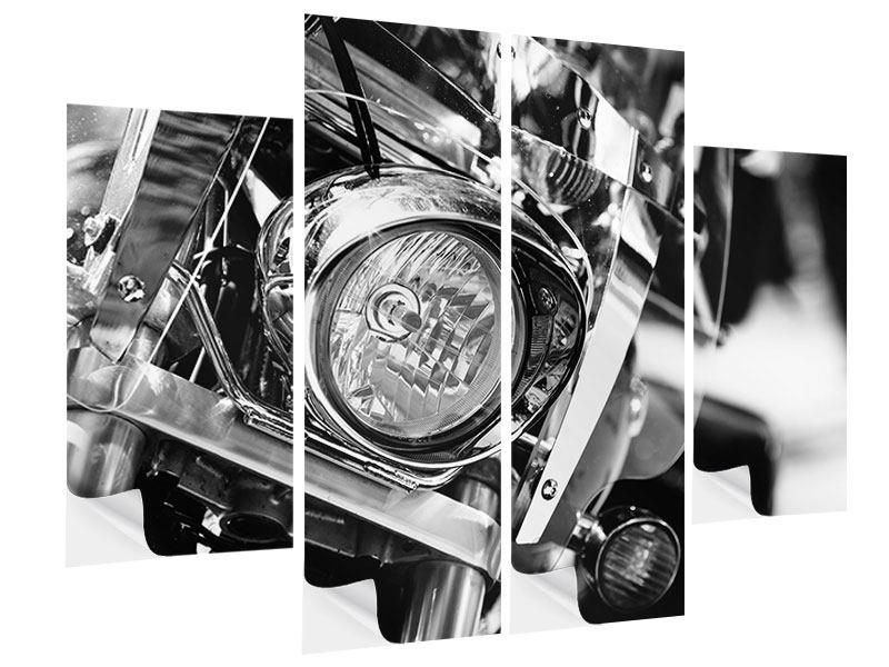 Klebeposter 4-teilig Motorrad Close Up