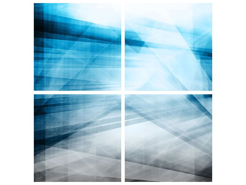 Klebeposter 4-teilig Abstrakte Lichtshow
