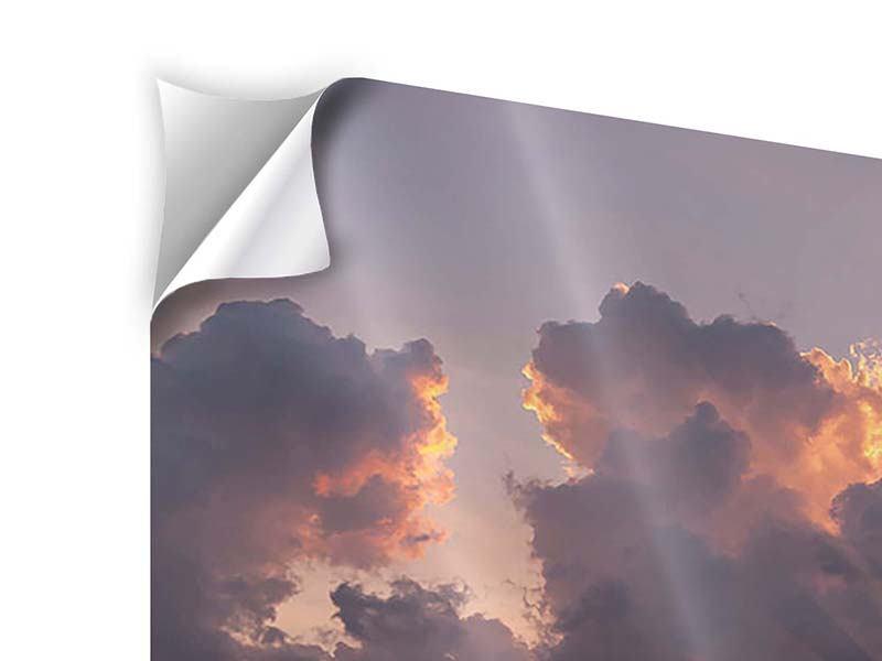 Klebeposter 4-teilig Packender Sonnenuntergang