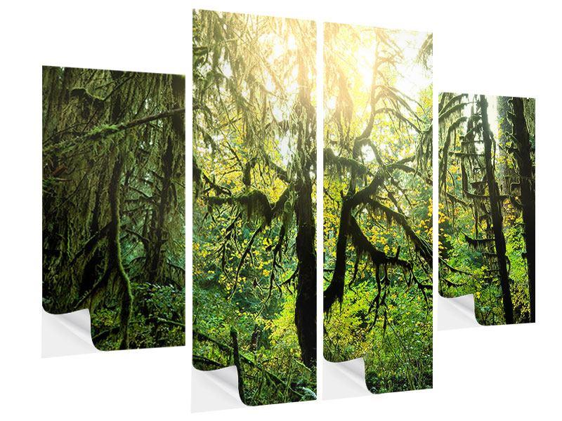 Klebeposter 4-teilig Verträumter Wald