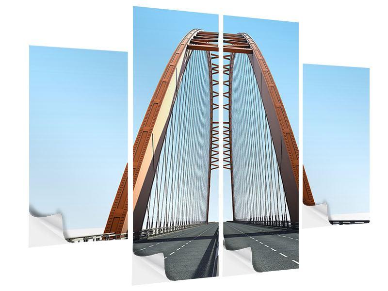 Klebeposter 4-teilig Brückenpanorama