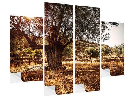 Klebeposter 4-teilig Olivenhain