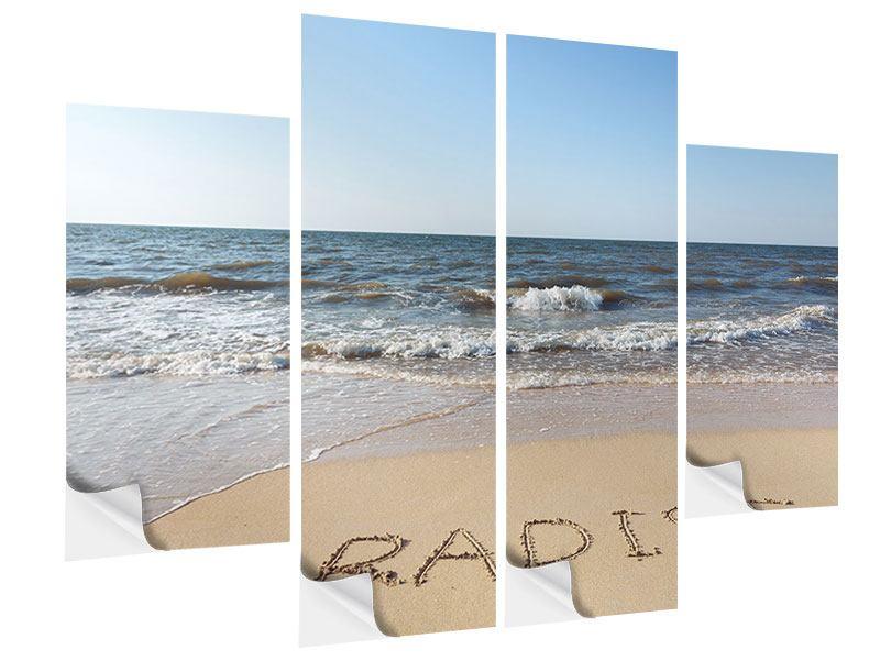 Klebeposter 4-teilig Sandspuren