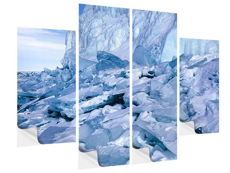 Klebeposter 4-teilig Eislandschaft Baikalsee
