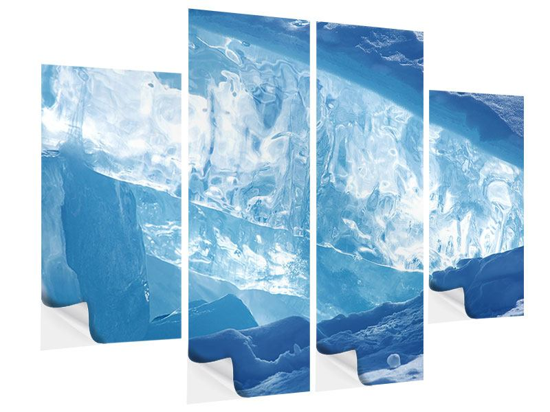 Klebeposter 4-teilig Baikalsee-Eis