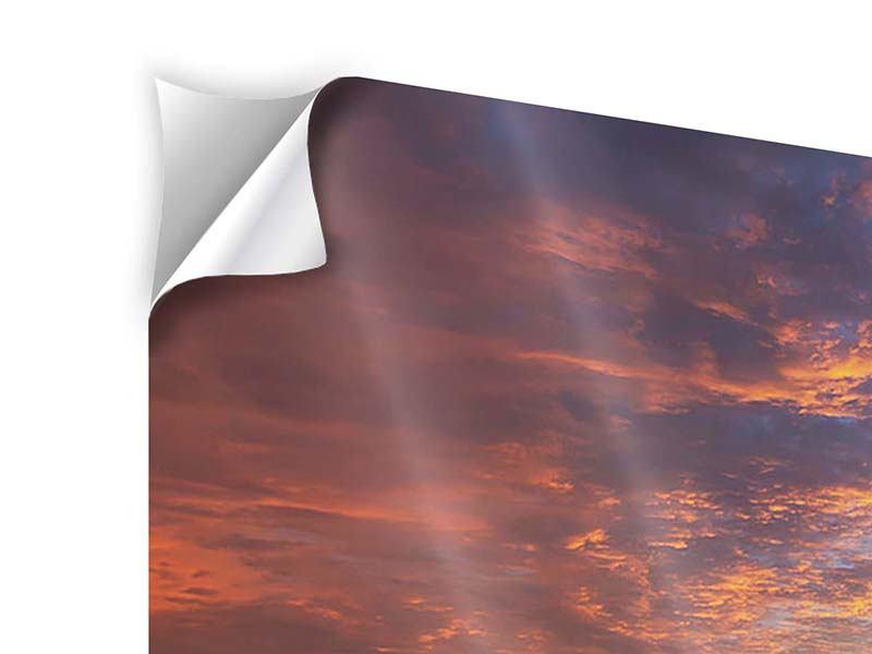 Klebeposter 4-teilig Sonnenuntergang