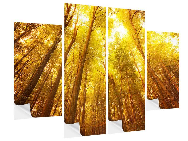 Klebeposter 4-teilig Herbstwald