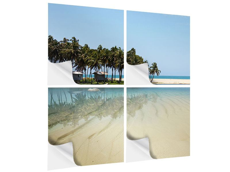Klebeposter 4-teilig Das Meer und die Insel