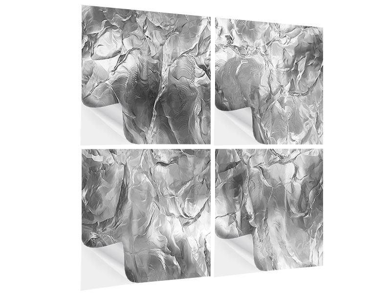 Klebeposter 4-teilig Eiswand