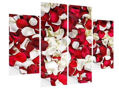 Klebeposter 4-teilig Rosenblätter