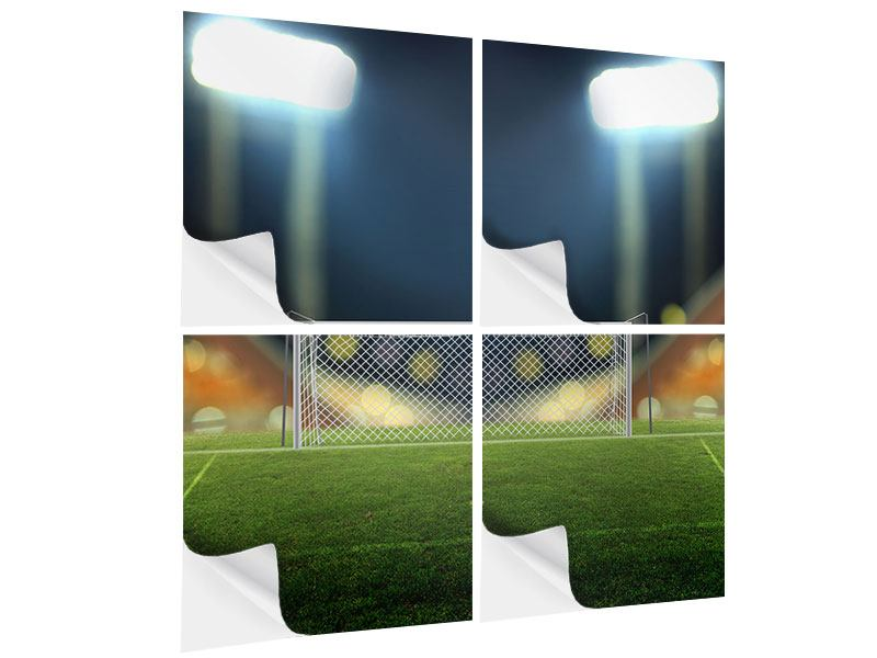 Klebeposter 4-teilig Fussballtor
