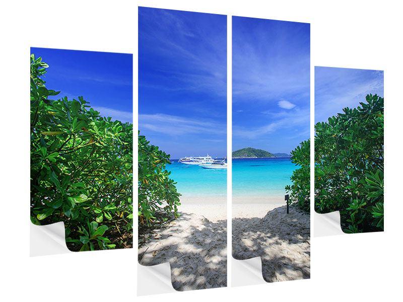 Klebeposter 4-teilig Similan-Inseln