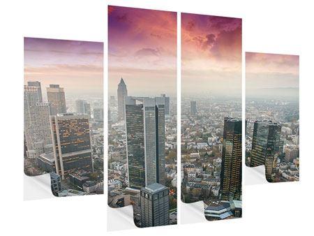 Klebeposter 4-teilig Skyline Penthouse in New York