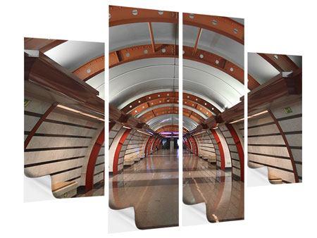 Klebeposter 4-teilig U-Bahn Station