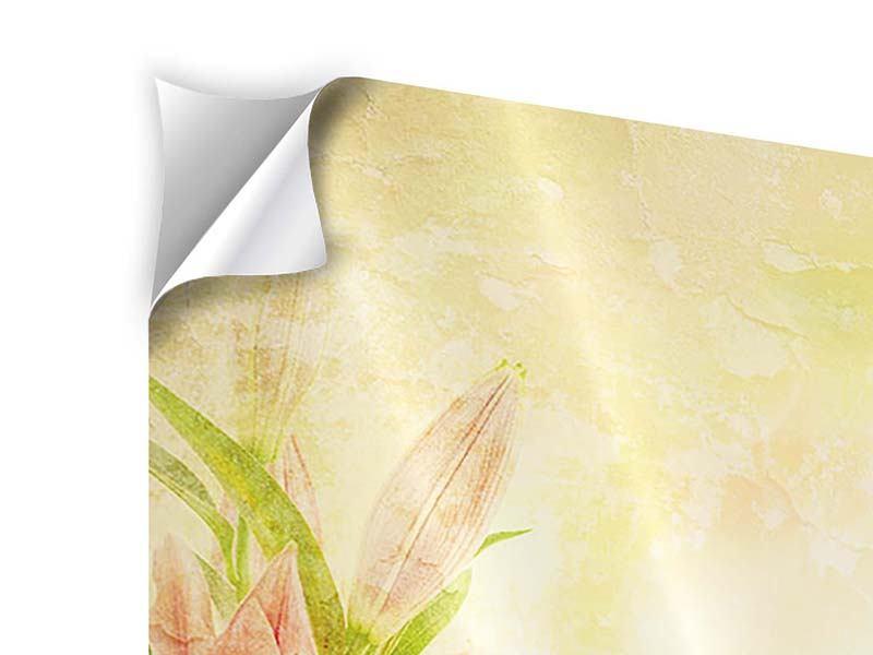Klebeposter 4-teilig Lilien-Gemälde