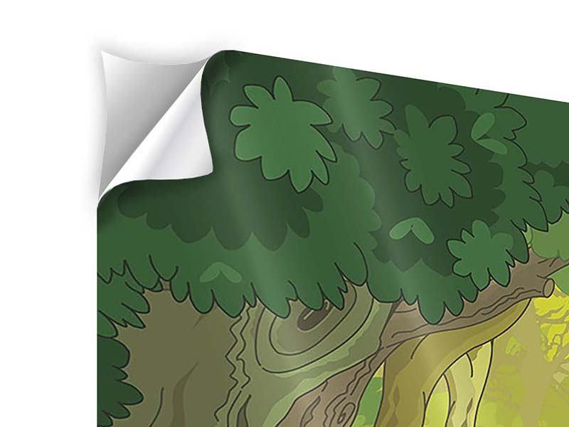 Klebeposter 4-teilig Der Märchenwald