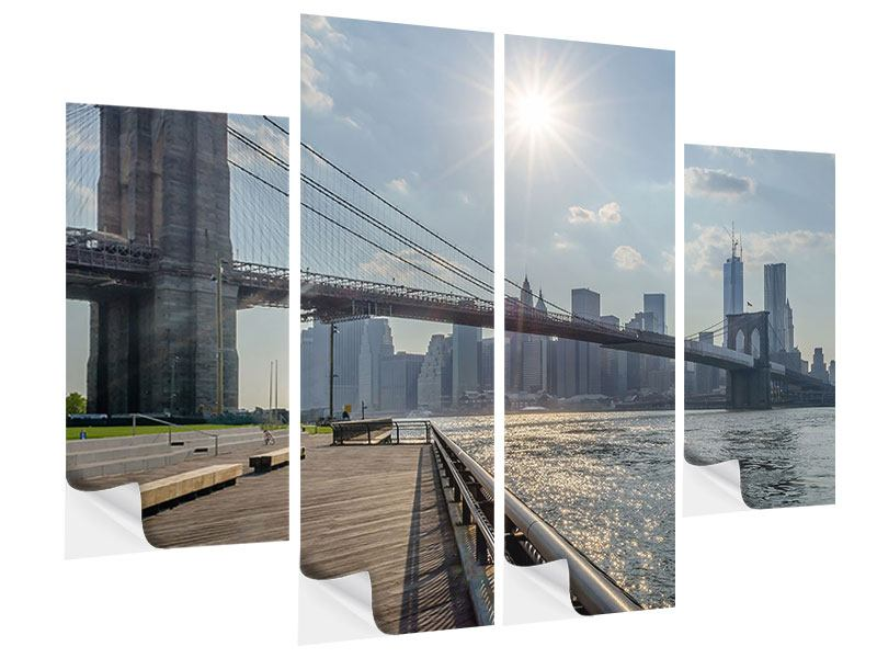 Klebeposter 4-teilig Brooklyn Bridge
